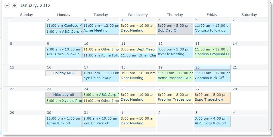 Category Color Sharepoint Calendar   Search Results   Calendar 2015