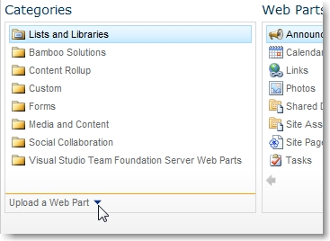 Upload web part to SharePoint