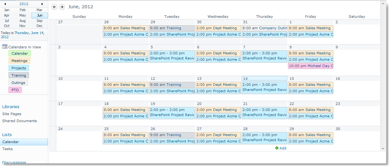 Weekly Calendar View Sharepoint : Customize the sharepoint calendar colors david lozzi s