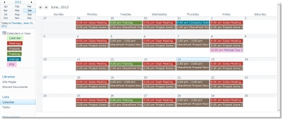 New Colors in the Calendar