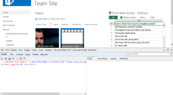 Internet Explorer F12 Developer Toolbar