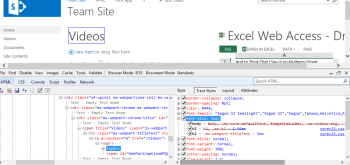 Press Trace Styles for a cleaner view (only in IE). Edit CSS directly and see it change in the page!