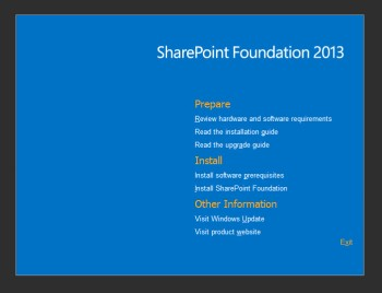 SharePoint Foundation 2013 Splash Screen
