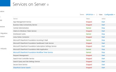 services on server