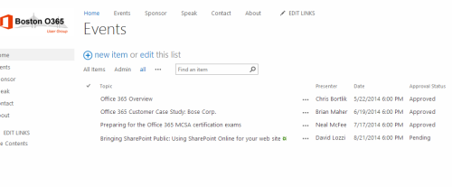 Boring SharePoint List View