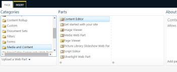 add content editor web part