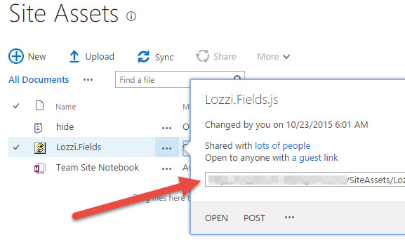 Embedding your JavaScript into a SharePoint page | David