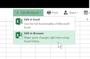 Edit Excel in the Browser