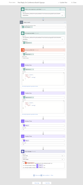 Entire Microsoft Flow writing Forms to Teams