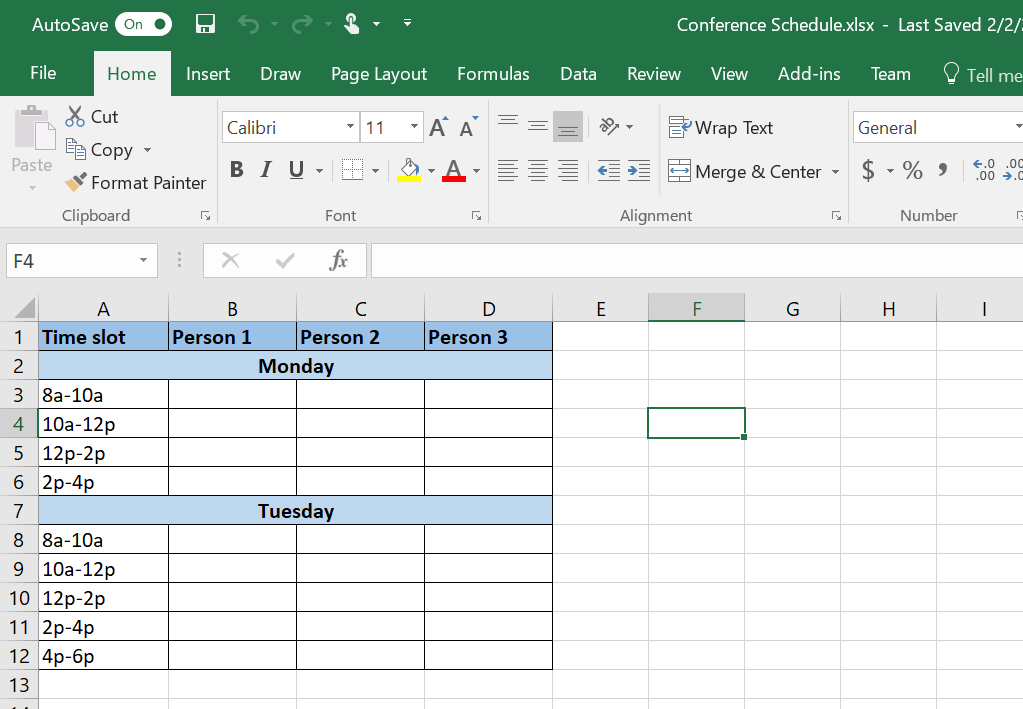 Microsoft office excel 2018