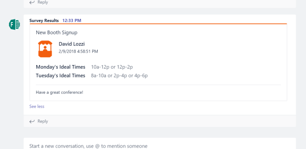 Flow pushing content to Teams via Incoming Webhook
