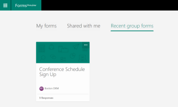 Microsoft Forms in the Group