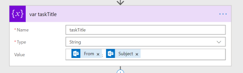 Initialize Variable in Microsoft Flow