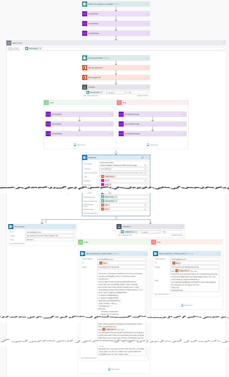 microsoft flow forms sharepoint