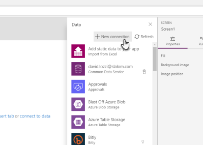 new powerapps data source