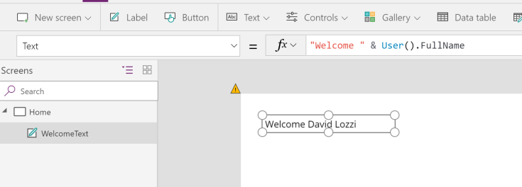 showing current user in powerapps.png