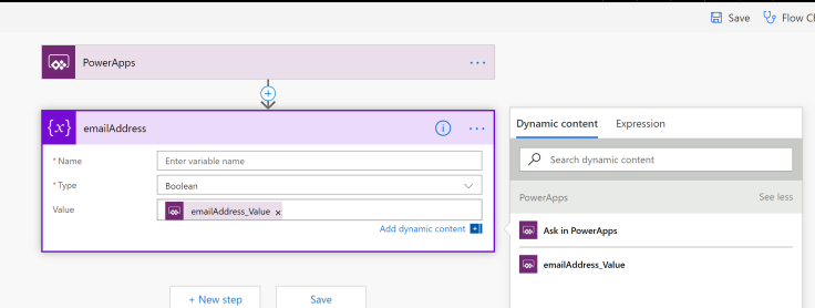name your powerapps flow parameter
